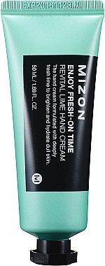 """Revitalisierende Handcreme mit Limette """"Enjoy Fresh-On Time"""" - Mizon Enjoy Fresh On Time Revital Lime Hand Cream — Bild N1"""