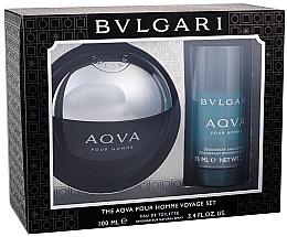 Düfte, Parfümerie und Kosmetik Bvlgari Aqva Pour Homme - Duftset (Eau de Toilette/100ml + Deodorant/75ml)