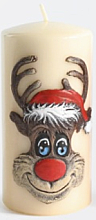 Düfte, Parfümerie und Kosmetik Dekorative Kerze Rudolf creme 7x14 cm - Artman Christmas Candle Rudolf