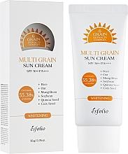 Düfte, Parfümerie und Kosmetik Aufhellende nährende und feuchtigkeitsspendende Sonnenschutzcreme für Körper und Gesicht mit Komplex aus 6 Körnern-Extrakten SPF 50+ - Esfolio Multi Grain Sun Cream SPF 50+/PA+++