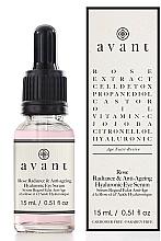 Düfte, Parfümerie und Kosmetik Anti-Aging Augenserum mit Hyaluronsäure und Rosenextrakt - Avant Rose Radiance & Anti-ageing Hyaluronic Eye Serum
