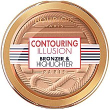 Düfte, Parfümerie und Kosmetik 2in1 Bronzer und Highlighter - Bourjois Contouring Illusion Bronzer & Highlighter