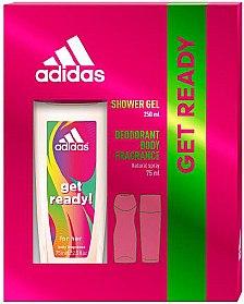 Adidas Get Ready! For Her - Duftset (Deodorant Spray/75ml + Duschgel/250ml)