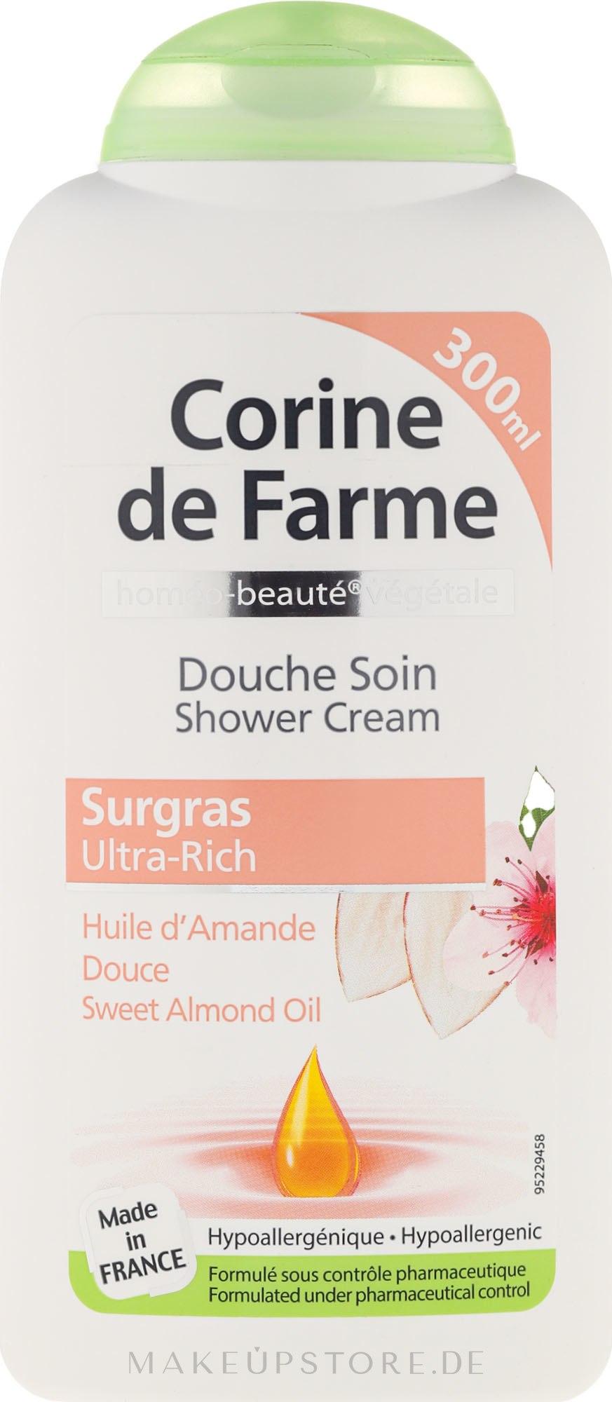 Duschcreme mit süßem Mandelöl - Corine De Farme Shower Cream — Bild 750 ml