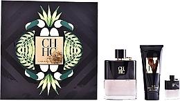 Düfte, Parfümerie und Kosmetik Carolina Herrera CH Men Prive - Duftset (Eau de Toilette 100ml + After Shave Balsam 100ml + Mini 7ml)