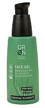 Düfte, Parfümerie und Kosmetik Ausgleichendes Gesichtsgel mit Aloe Vera und Hanf für normale bis Mischhaut - GRN Essential Elements Aloe Vera & Hemp Face Gel