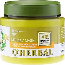 Düfte, Parfümerie und Kosmetik Volumenmaske für dünnes Haar - O'Herbal