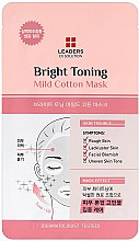 Düfte, Parfümerie und Kosmetik Aufhellende Tuchmaske für das Gesicht mit Hyaluronsäure und Weidenrinde - Leaders Ex Solution Bright Toning Mild Cotton Mask
