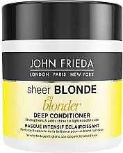Düfte, Parfümerie und Kosmetik Maske für blondes Haar - John Frieda Sheer Blonde Go Blonder Deep Conditioner