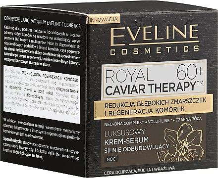 Luxuriöses regenerierendes Creme-Serum für die Nacht 60+ - Eveline Cosmetics Royal Caviar Therapy Cream-Serum 60+ — Bild N1