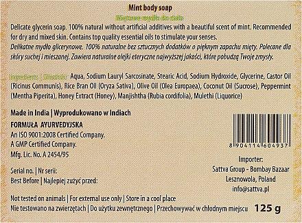 Parfümierte Körperseife - Sattva Hand Made Soap Mint — Bild N3