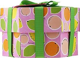 Düfte, Parfümerie und Kosmetik Körperpflegeset - Bomb Cosmetics Fruit Basket Hexagonal Gift Box (Badebombe 2 St. + Seife 2 St. + Körperpeeling 120ml + Duschgel 120ml)
