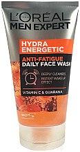 Düfte, Parfümerie und Kosmetik Gesichtswaschgel für Männer mit Vitamin C und Guarana - L'Oreal Paris Men Expert Hydra Energetic Anti-Fatigue Face Wash