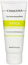 Düfte, Parfümerie und Kosmetik Schönheitsmaske Apfel für fettige und Mischhaut. - Christina Sea Herbal Beauty Mask Green Apple