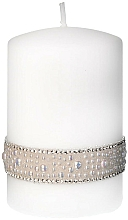 Düfte, Parfümerie und Kosmetik Dekorative Kerze weiß 7x14 cm - Artman Crystal Pearl
