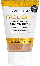 Düfte, Parfümerie und Kosmetik Peel-off Maske mit Rosenwasser und Hyaluronsäure - Revolution Skincare Face Off! Gold Glitter Face Off Mask