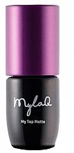 Düfte, Parfümerie und Kosmetik UV Nagelüberlack mit Matteffekt - MylaQ My Top Matte