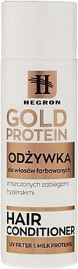 Haarspülung mit Milchprotein für gefärbtes und geschädigtes Haar - Hegron Gold Protein Hair Conditioner — Bild N1