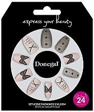 Düfte, Parfümerie und Kosmetik Künstliche Nägel Set mit Kleber 3046 - Donegal
