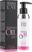 Düfte, Parfümerie und Kosmetik Entspannendes Massageöl Love mit Zuckerwatteduft - Sezmar Collection Love Massage Oil Cotton Candy