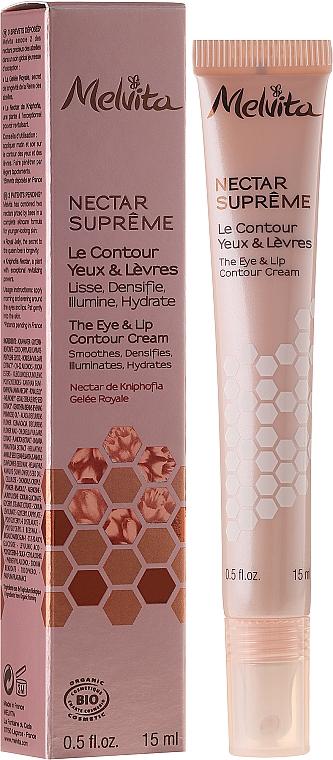 Anti-Aging Augen- und Lippencreme - Melvita Nectar Supreme The Eye and Lip Countour Cream — Bild N1