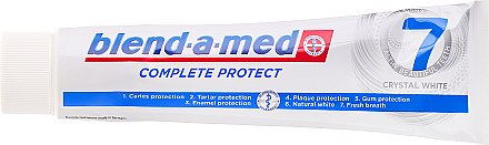 Zahnpasta Complete Protect 7 Crystal White - Blend-a-Med Complete Protect 7 Crystal White Toothpaste — Bild N3