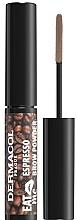 Düfte, Parfümerie und Kosmetik Augenbrauenpuder - Dermacol Eat Me Espresso Eyebrow Powder