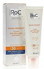 Düfte, Parfümerie und Kosmetik Mattierendes Sonnenschutzfluid für das Gesicht SPF 30 - RoC Soleil Protect Anti-Shine Mattifying Fluid SPF30
