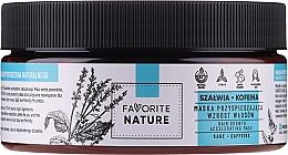 Düfte, Parfümerie und Kosmetik Haarwachstum stimulierende Maske mit Salbei und Koffein - Favorite Nature Hair Growth Accelerating Mask Sage & Caffeine