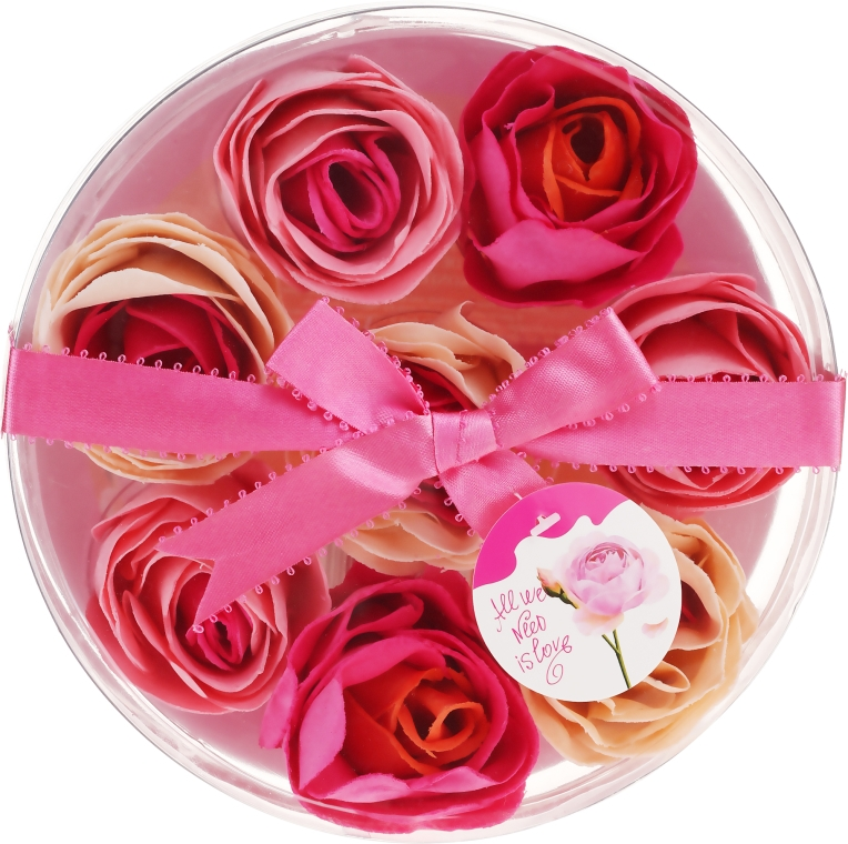 Seifenkonfetti mit Rosenduft 8 St. - Spa Moments Bath Confetti Rose — Bild N1