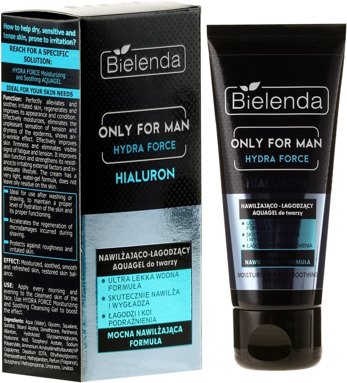 Feuchtigkeitsspendendes Gesichtsgel - Bielenda Only For Man Hydra Force Hialuron Face AquaGel — Bild N1