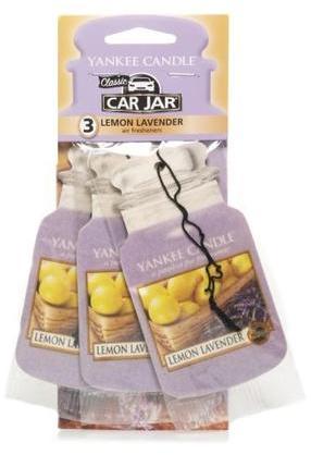 Papier-Lufterfrischer Lemon Lavender 3 St. - Yankee Candle Car Jar Lemon Lavender  — Bild N1