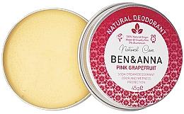 Düfte, Parfümerie und Kosmetik Natürliche Deo-Creme mit Grapefruit - Ben & Anna Pink Grapefruit Soda Cream Deodorant