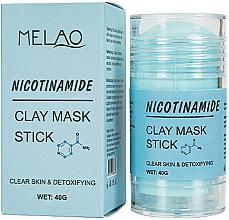 Düfte, Parfümerie und Kosmetik Reinigende und entgiftende Gesichtsmaske in Stick mit Nicotinamid - Melao Nicotinamide Clay Mask Stick