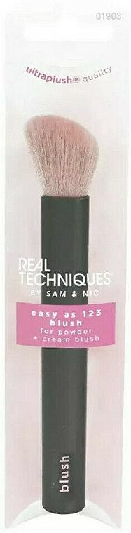Puder- und Rougepinsel - Real Techniques Easy As 123 Blush For Powder + Cream Blush