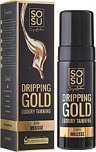Düfte, Parfümerie und Kosmetik Bräunungsmousse für den Körper mit Hyaluronsäure und Vitamin A und F - Sosu by SJ Dripping Gold Luxury Tanning Mousse