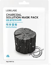 Düfte, Parfümerie und Kosmetik Reinigende Tuchmaske mit Aktivkohle - Lebelage Charcoal Solution Mask