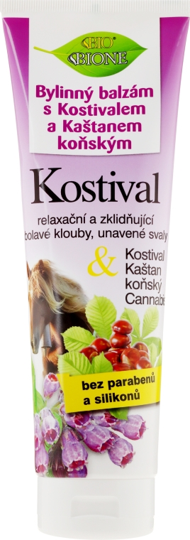 Fußbalsam mit Kastanien-, Beinwell- und Hanföl - Bione Cosmetics Cannabis Kostival Herbal Ointment with Horse Chestnut
