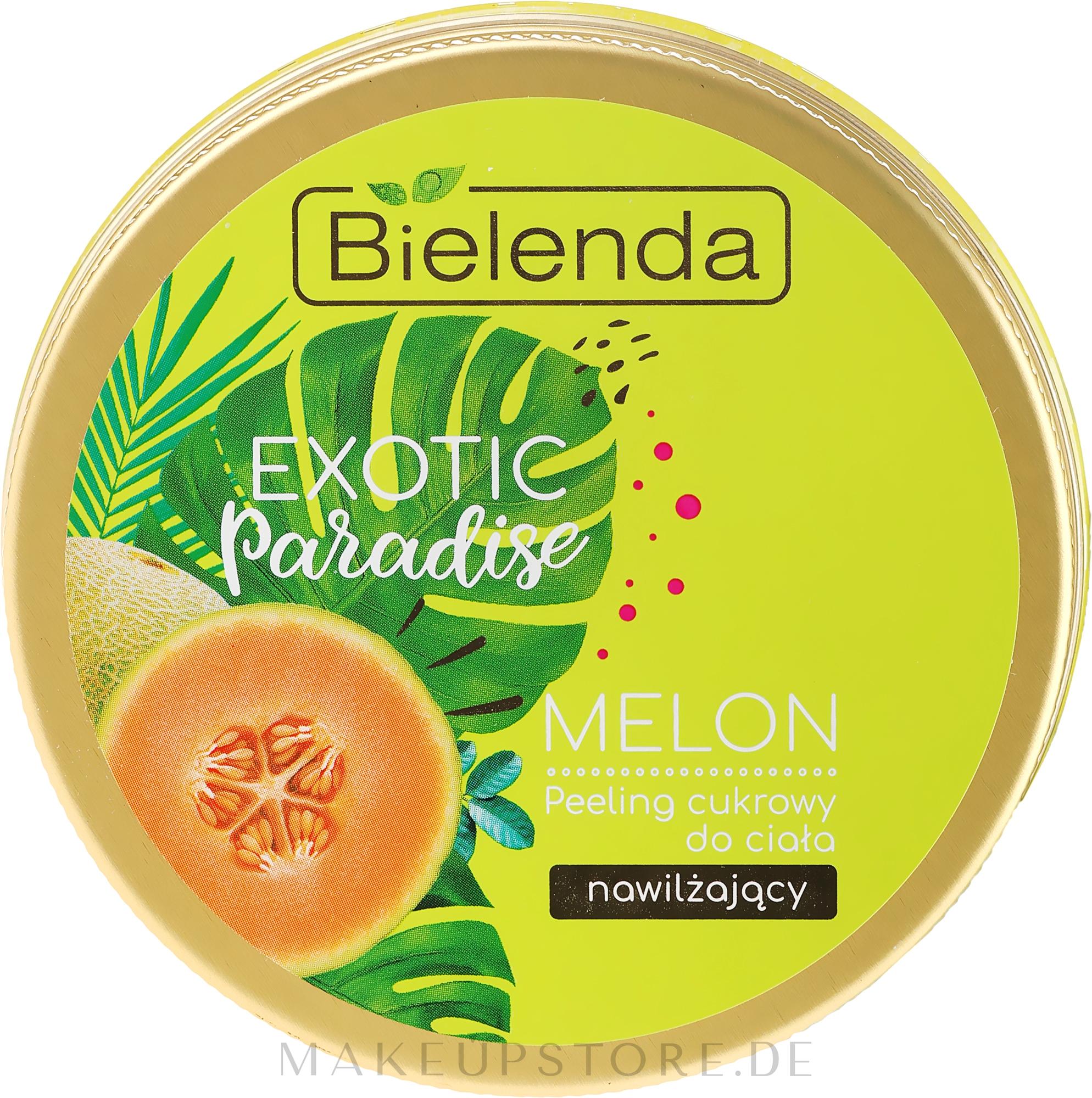 Feuchtigkeitsspendendes Zuckerpeeling für den Körper mit Melonenextrakt - Bielenda Exotic Paradise Peel — Bild 350 g