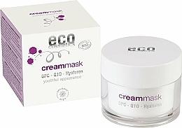 Düfte, Parfümerie und Kosmetik Creme-Maske für das Gesicht mit Hyaluron - Eco Cosmetics Cream Mask With OPC Q10 & Hyaluron