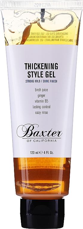 Haarstylinggel für mehr Glanz und Volumen Starker Halt - Baxter of California Thickening Style Gel — Bild N1