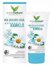 Düfte, Parfümerie und Kosmetik Beruhigende Gesichtscreme mit natürlichen Ölen und Kamille für gereizte Haut - Cosnature MED Face Cream Brine & Chamomille