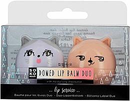 Düfte, Parfümerie und Kosmetik Lippenbalsam-Set - Soko Ready Lip Balm Duo With Moisturising Shea Butter (Lippenbalsam 2x5.6g)