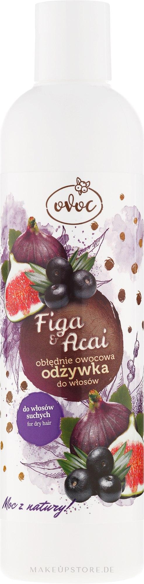 Haarspülung mit Extrakt aus Feigen, Acai und Sheabutter - Ovoc Figa & Acai Conditioner — Bild 300 ml