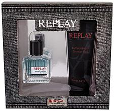 Düfte, Parfümerie und Kosmetik Replay True Replay For Him - Kosmetikset (Eau de Toilette/30ml + Duschgel/100ml)