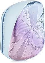 Düfte, Parfümerie und Kosmetik Kompakte Haarbürste - Tangle Teezer Compact Styler Smashed Holo Blue