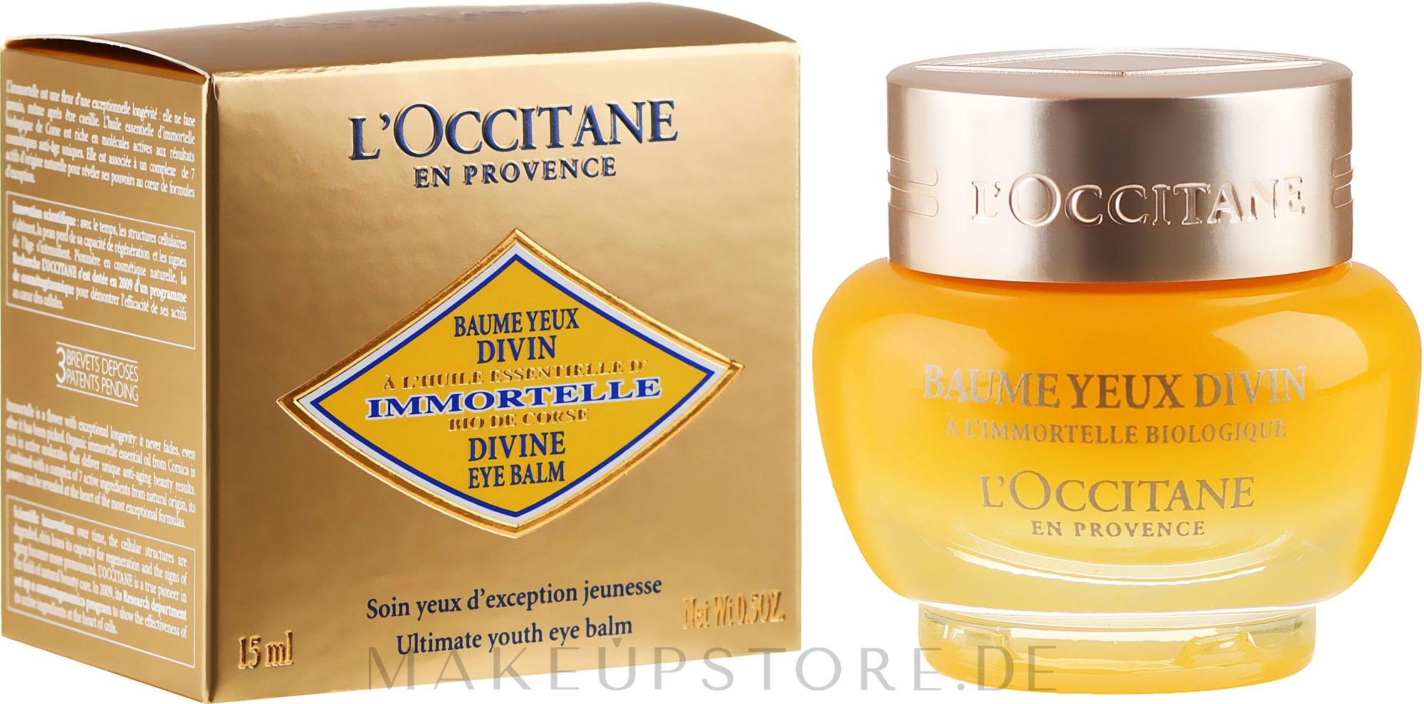 Verjüngender Augenbalsam - L'Occitane Immortelle Divine Eye Balm — Bild 15 ml