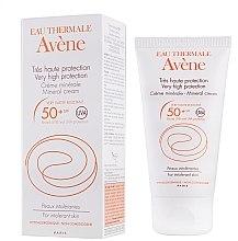 Düfte, Parfümerie und Kosmetik Mineralische Sonnenschutzcreme für überempfindliche Gesichtshaut SPF 50+ - Avene Solaires Mineral Cream SPF 50+