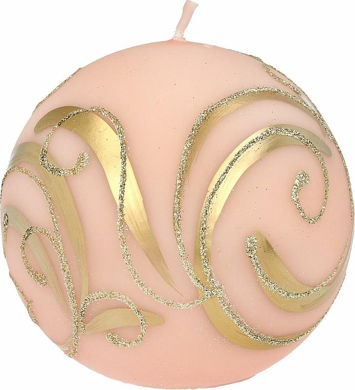 Dekorative Kerze Ball rosa 10 cm - Artman Christmas Ornament — Bild N1