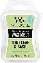 Düfte, Parfümerie und Kosmetik Tart-Duftwachs Mint Leaf & Basil - WoodWick Mini Wax Melt Mint Leaf & Basil Smart Wax System